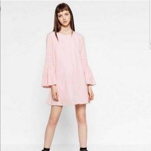 Zara pink white stripe playsuit medium